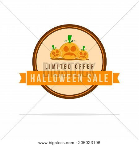 Style Halloween sale collection stock vector illustration
