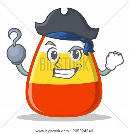 Pirate candy corn character cartoon vector illustration