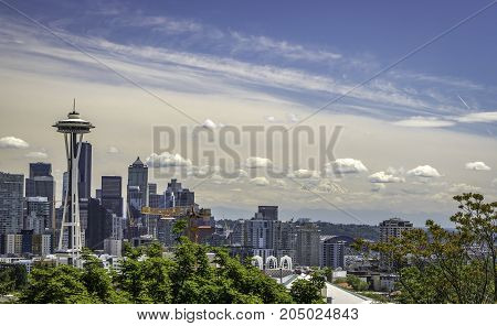 Seattle Skyline view from Kerry Park in Seattle, Washington