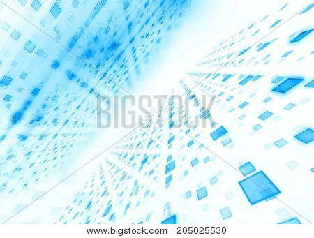 Abstract Defocus Digital Technology Background