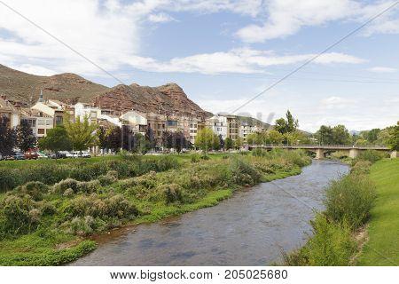Cityscape Of The Town Of Najera, La Rioja, Spain.