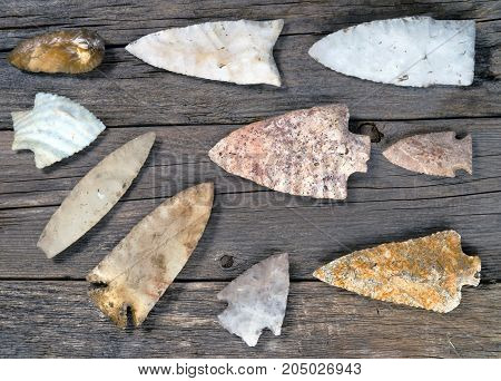Real American Indian arrowheads found around Texas made 6000-8000 years ago.