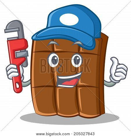 Plumber chocolate character cartoon style vector illustration