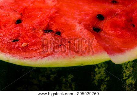 Closeup Of The Fresh Ripe Watermelon