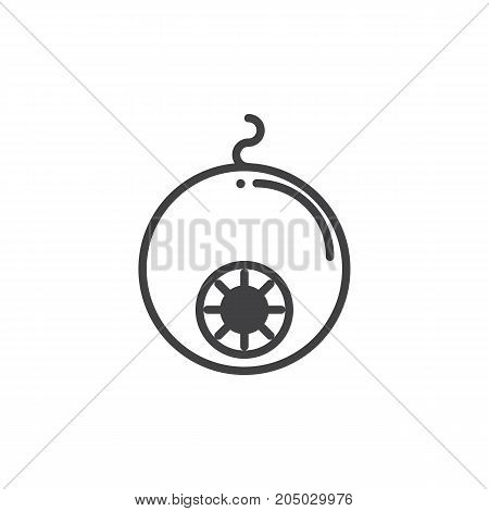 Eyeball icon vector, filled flat sign, solid pictogram isolated on white. Halloween holiday Symbol, logo illustration.