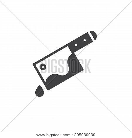 Cleaver with blood drop icon vector, filled flat sign, solid pictogram isolated on white. Halloween holiday Symbol, logo illustration.