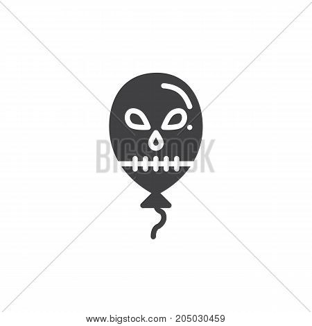 Halloween balloon icon vector, filled flat sign, solid pictogram isolated on white. Halloween holiday Symbol, logo illustration