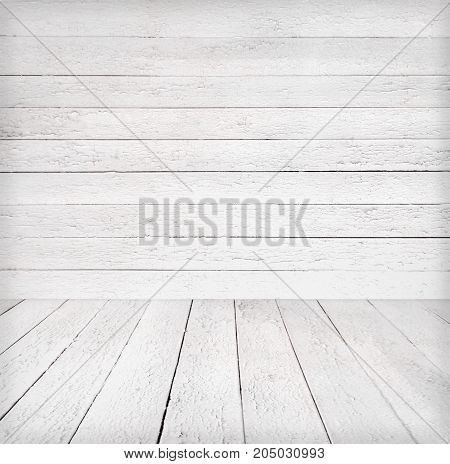 Old wooden room interior, empty background with space for your text or design