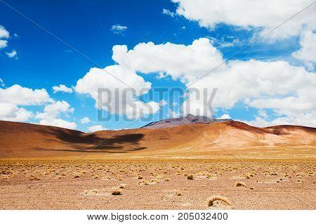 Desert Landscape In Altiplano, Bolivia