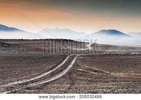 Road In The Desert, Altiplano, Bolivia