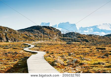 Hiking Trail To The Icefjord In Ilulissat, Greenland