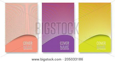 Minimal covers design. Future geometric patterns also useful for your app for smartphones. Illustrated vector