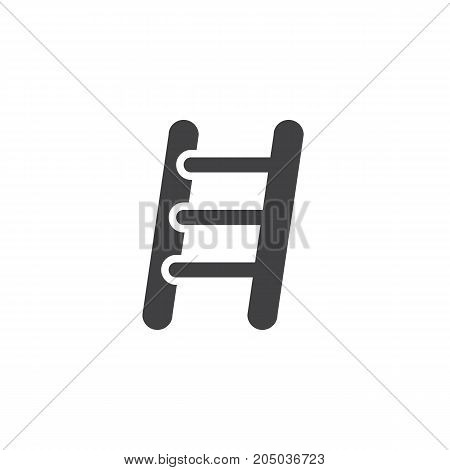 Ladder household equipment icon vector, filled flat sign, solid pictogram isolated on white. Business success Symbol, logo illustration.