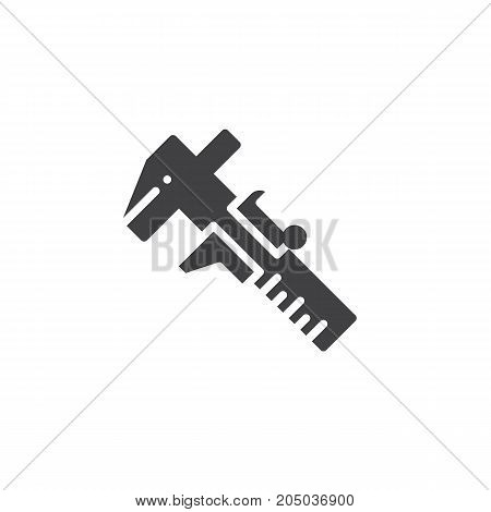 Caliper work tool icon vector, filled flat sign, solid pictogram isolated on white. Symbol, logo illustration.