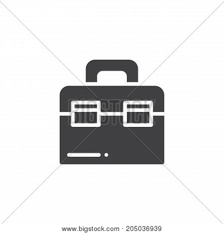 Toolbox icon vector, filled flat sign, solid pictogram isolated on white. Symbol, logo illustration.