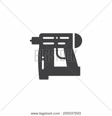 Nail gun icon vector, filled flat sign, solid pictogram isolated on white. Symbol, logo illustration