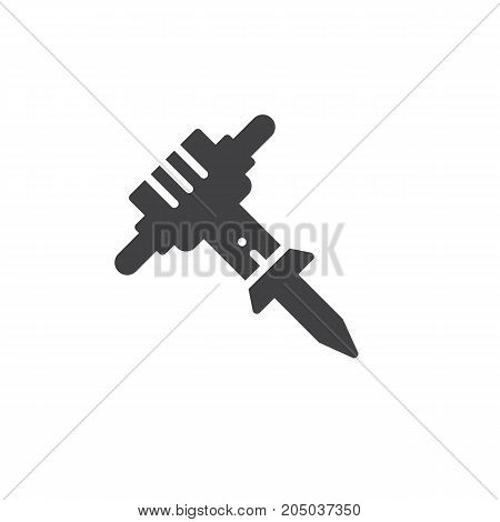 Jackhammer icon vector, filled flat sign, solid pictogram isolated on white. Symbol, logo illustration.
