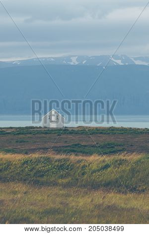 Siding House At Coastline In East Iceland