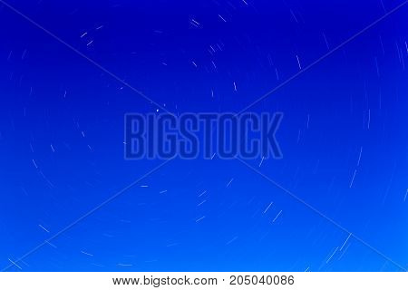 Starry sky near the polar star, abstract background