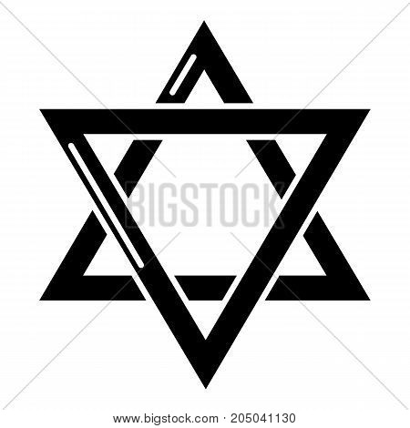 Star david judaism icon . Simple illustration of star david judaism vector icon for web design isolated on white background