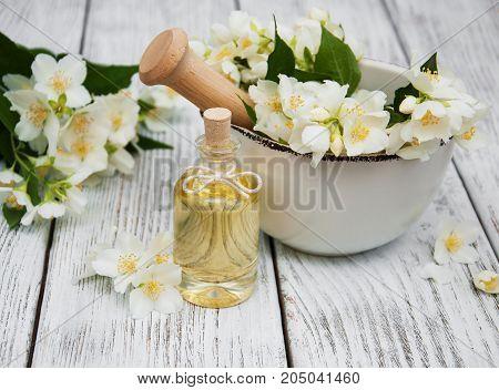 Massage Oil With Jasmine Flowers