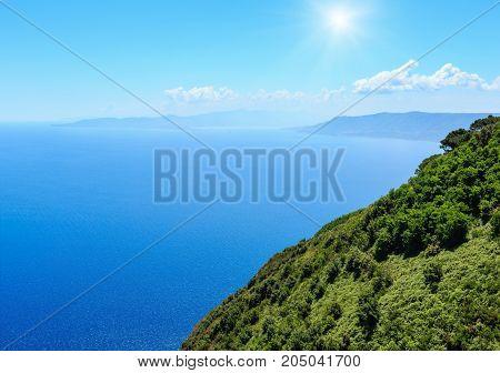 Sea Coast View From Saint Elia Mount Top
