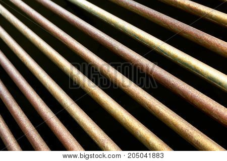 metal rods close up abstract industrial background