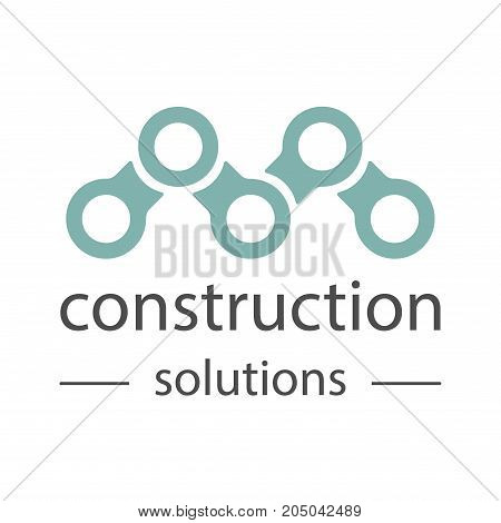 Construction company brand design template. Building company and architect bureau insignia, logo illustration isolated on white background.