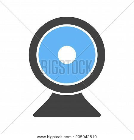Video, conference, laptop icon vector image. Can also be used for IT Services. Suitable for mobile apps, web apps and print media.