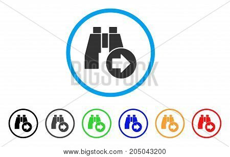Find Next Binoculars rounded icon. Style is a flat find next binoculars gray symbol inside light blue circle with black, gray, green, blue, red, orange versions.