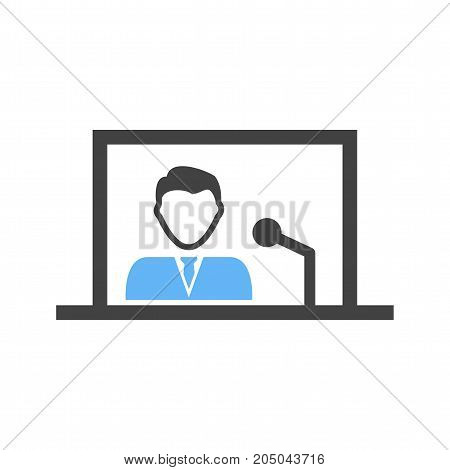 Internet, online, news icon vector image. Can also be used for news and media. Suitable for mobile apps, web apps and print media.