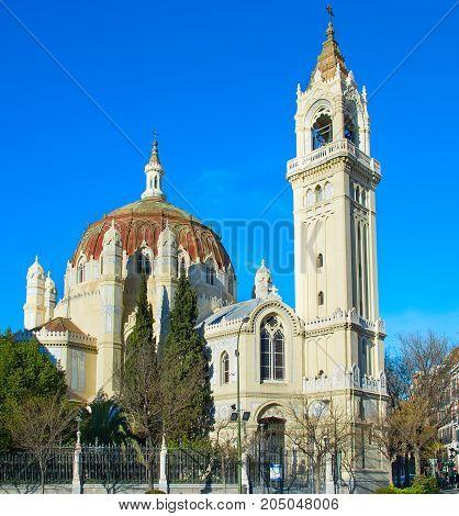 Famous Madrid Church, Spain