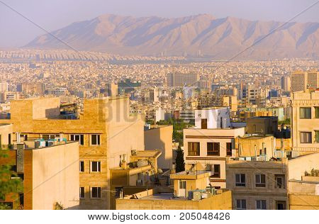 Tehran Residential Buildings, Skyline. Iran