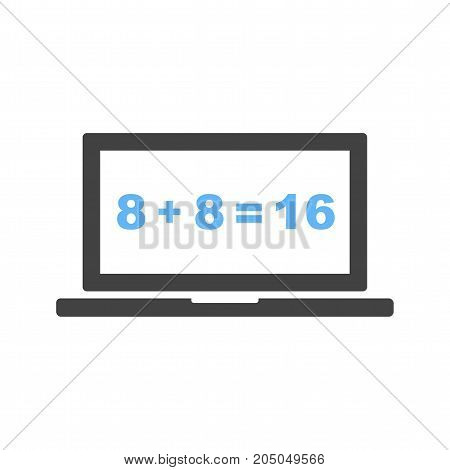 Math, online, calculation icon vector image. Can also be used for Math Symbols. Suitable for use on web apps, mobile apps and print media.