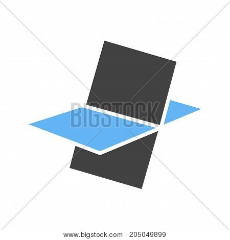 Polygonal, stereometry, shape icon vector image. Can also be used for Math Symbols. Suitable for mobile apps, web apps and print media.