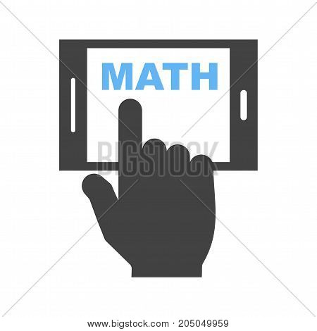 Mobile, digital, maths icon vector image. Can also be used for Math Symbols. Suitable for use on web apps, mobile apps and print media.