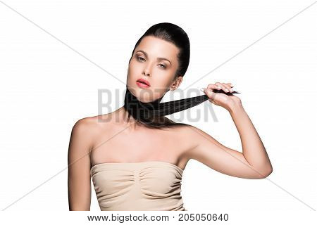 Woman With Beautiful Ponytail