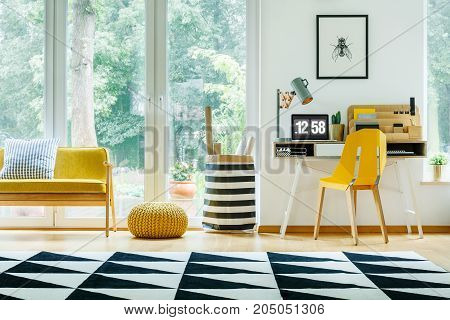 Interior With Yellow Chair