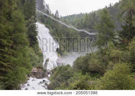 Waterfall In The Austrian Alps