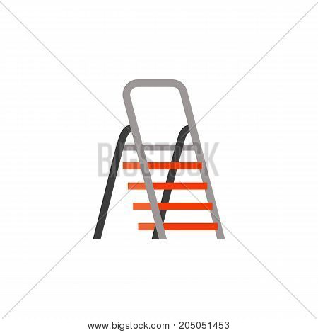 Icon of folding ladder. Steps, engineering, multipurpose. Performing apartments concept. Can be used for topics like home improvement, construction industry, portability