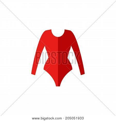 Icon of gymnastic leotard. Clothing, dancer, bodysuit. Gymnastics concept. Can be used for topics like garment, acrobatics, gymnast