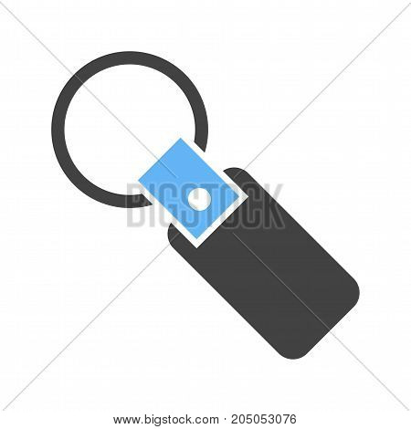 Key, chain, keyring icon vector image. Can also be used for Men Accessories. Suitable for mobile apps, web apps and print media.