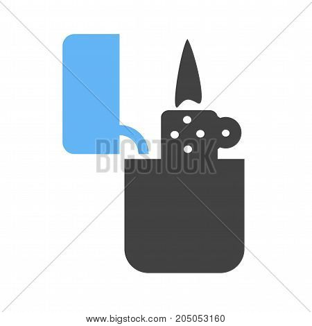 Lighter, light, fire icon vector image. Can also be used for Men Accessories. Suitable for mobile apps, web apps and print media.