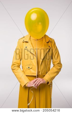 Fashionable Girl With Balloon