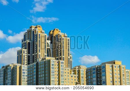 construction of new areas on the suburb of Istanbul high-rise high-rise buildings