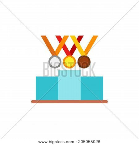 Icon of rewards for sport achievements. Competition, success, leader. Gymnastics concept. Can be used for topics like winning, sport, Olympics games