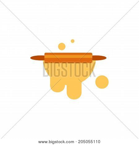 Icon of rolling pin. Dough, baking, kitchen. Bakery concept. Can be used for topics like preparing food, cooking, utensil