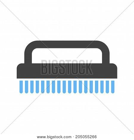 Scrubber, hand, washing icon vector image. Can also be used for Cleaning Services. Suitable for web apps, mobile apps and print media.