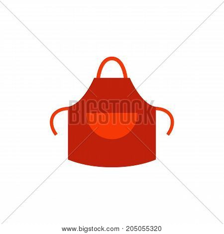 Icon of welding apron. Garment, protect clothing, uniform. Metal working concept. Can be used for topics like cooking, protection, workwear