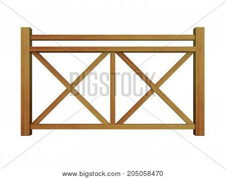 cedar design wood railing 3d render model